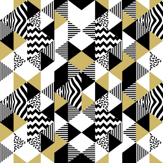 Seamless Memphis Triangle Abstract Pattern In 2020 Abstract