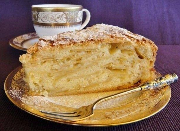Яблочный пирог «Шарлатанка» Ингредиенты: Яблоки — 4 шт. Мука — 2 стакана Яйцо куриное — 5 шт. Масло сливочное растопленное — 150 г Сахарный песок — 2 стакана...
