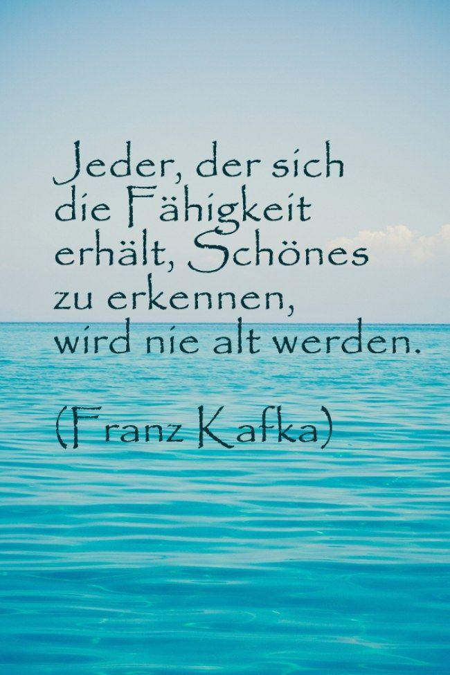 #Lebensweisheit #Schönes im Leben erkennen #Zitat #Franz Kafka