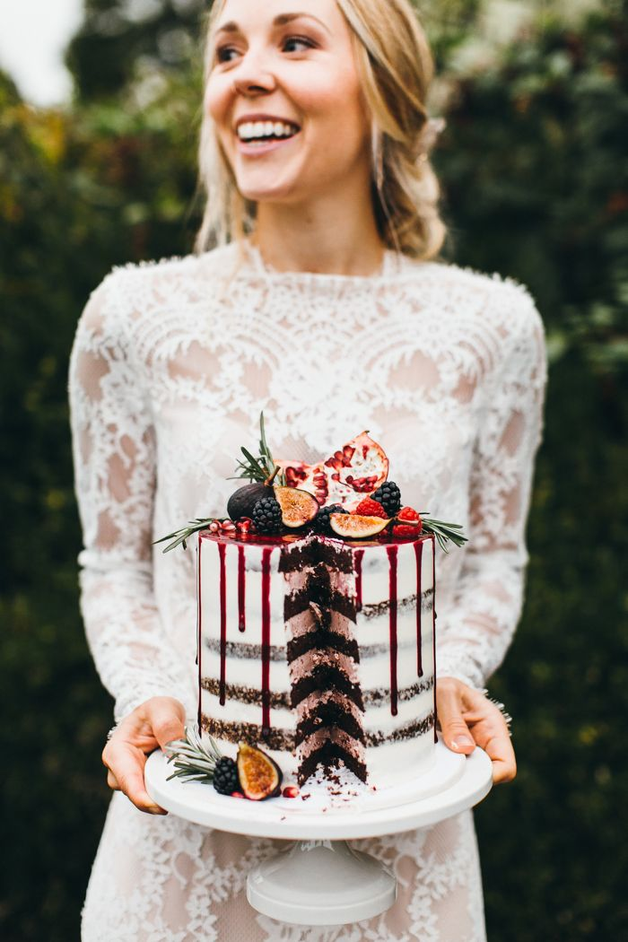 When the bride and the wedding cake are equally as stunning | Image by  Emily Kirke Photography