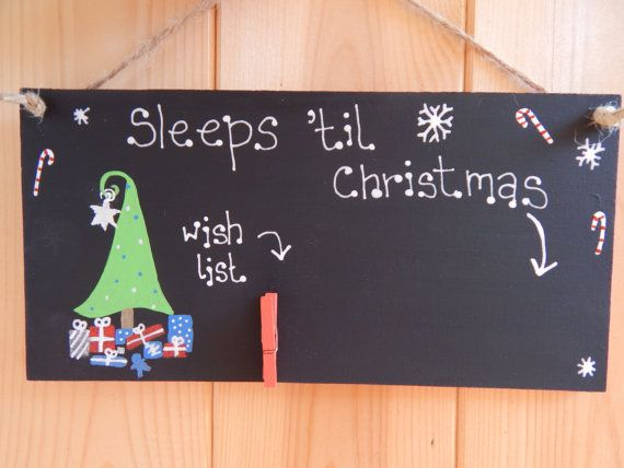 Christmas countdown plaque, Christmas wish list, Christmas sign, Countdown to Christmas, Christmas decoration, Sleeps until Christmas