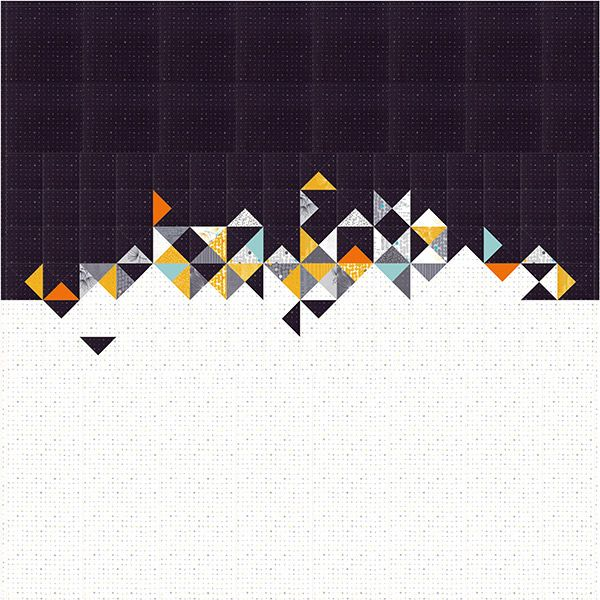 CONTRASTING QUILT QUILTING PATTERN from Zen Chic *NEW*