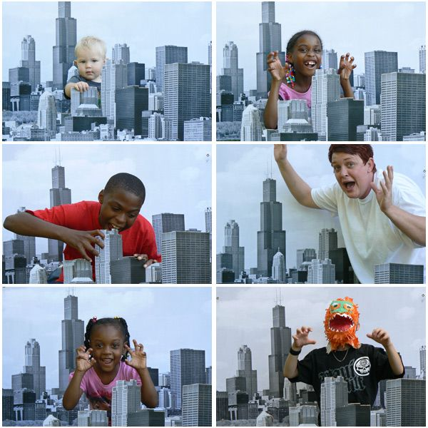 Godzilla party:  Create a city scape for photos to be taken of the kids wreaking havoc!