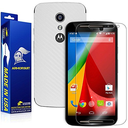 Armorsuit MilitaryShield Motorola Moto G 2nd Generation 2014 Screen Protector  White Carbon Fiber Full Body Skin  Front AntiBubble Ultra HD Shield w Lifetime Replacements * You can get additional details at the image link. (This is an affiliate link) #CellPhoneAccessories