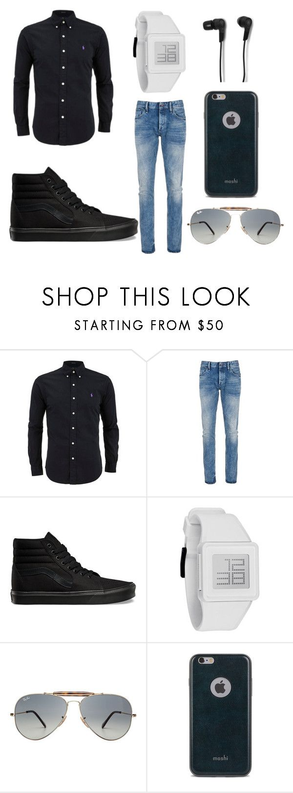 """""""~A Casual Outfit For Men/Boys~"""" by bellacrowell on Polyvore featuring Denham, Vans, Nixon, Ray-Ban, Moshi, B&O Play, mens, men, men's wear and mens wear"""