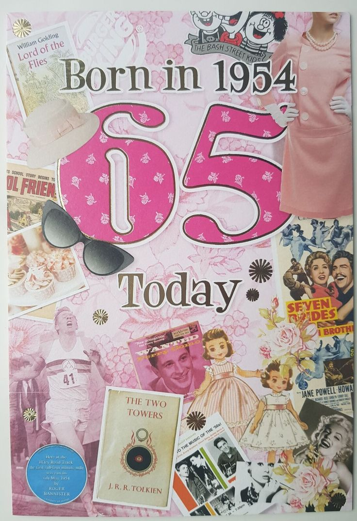 Details about 65th birthday card 1955 year you were born