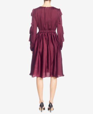 Catherine Catherine Malandrino Mena Tie-Sleeve Dress - Red 12