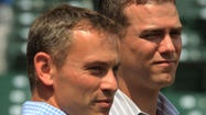 Cubs GM Jed Hoyer and President of Baseball Operations Theo Epstein spoke to the media before today's game at Wrigley Field