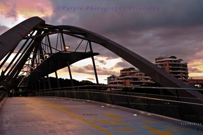 Yeu Thi Tran Brisbane Goodwill Bridge, South Bank, at Sunset. https://www.facebook.com/pages/Purple-Photography-Creations/148743085221883
