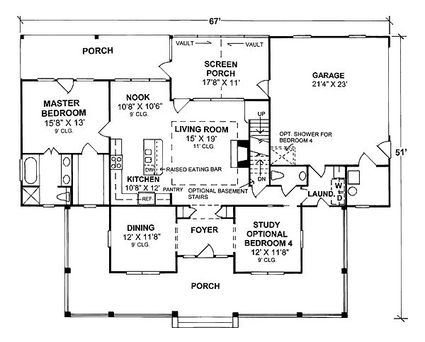House Plan Chp 16672 At First Floor