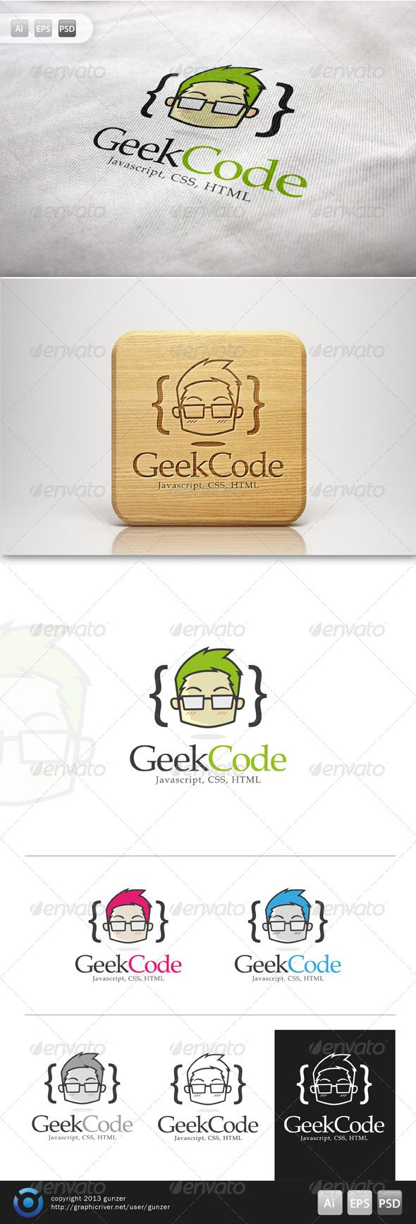 Geek Code Logo #GraphicRiver GeekCode Logo is 100% editable and resizeable vectors! suitable for comunity, service, product or other related. Well organized file, All colors and text can be modified, read the instruction readme.pdf Font: fontzone /font-details/book-antiqua Colour: CMYK Files: .ai / .eps / .eps version 10 / .psd Size: Resizeable Contact me if you need any help and would be appreciate if you may rate this item.. Cheers! Created: 5October13 GraphicsFilesIncl...