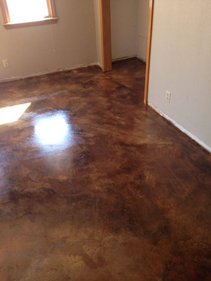 Custom Stained Concrete Floors : Best fab basements images on pinterest cement floors