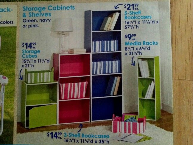 Just like the look of these shelves. Seen in a Christmas Tree Shops flyer.