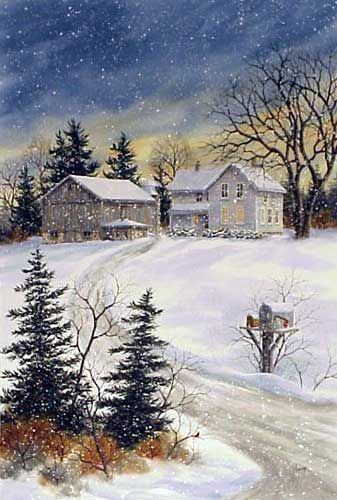 Evening Farm by Kathy Glasnap