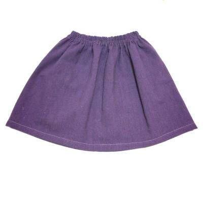 今回は、ゴムウエストのスカートの作り方を紹介します。 子どもサイズだと、布幅分の生地でゴムスカートができちゃう…