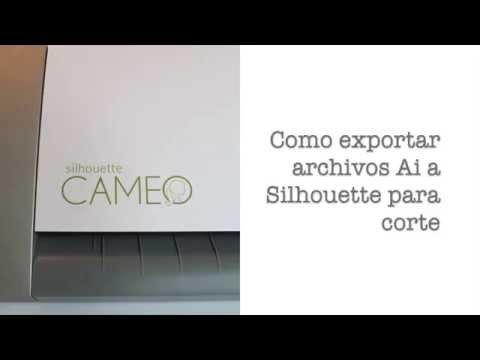 Exportar diseños de Adobe Illustrator a Silhouette para corte (español) - YouTube