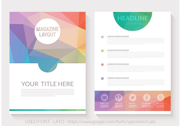 Free Abstract Triangular Magazine Layout Vector
