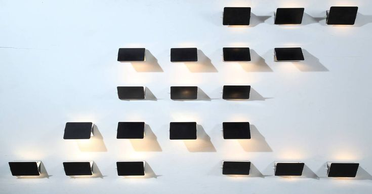 Installation of 20 Charlotte Perriand CP1 Appliques, France, 1960s | From a unique collection of antique and modern wall lights and sconces at https://www.1stdibs.com/furniture/lighting/sconces-wall-lights/