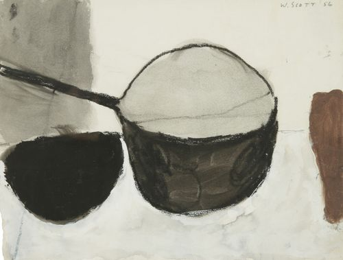 William Scott (British, 1913-1989), Still life with pan, 1956....