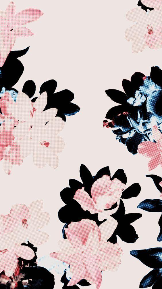 papier-peint fleurs