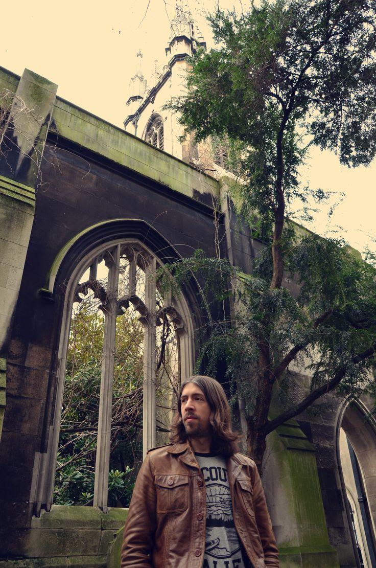 Julien Gaullier, frontman of Spleen Arcana, a progressive rock act. (Photo credit: Marie Guillaumet)