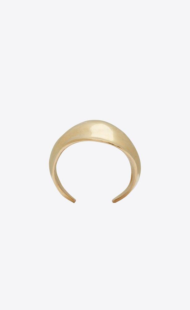 b843e01fb99 SAINT LAURENT Bracelets Woman TRIBAL cuff bracelet in satiny gold-toned  brass a_V4