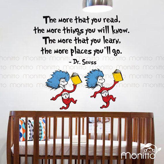 Best Dr Seuss Nursery Images On Pinterest - Dr seuss nursery wall decals