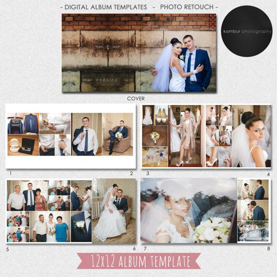12x12 Inches Psd 40 Pages Wedding Al Template 20 Spread And