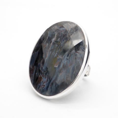 Pietersite Ring Faceted