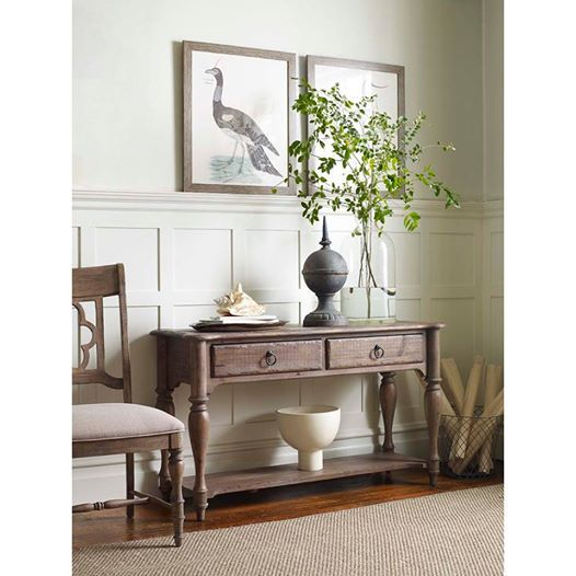 kincaid furniture weatherford sofa table with 2 drawers and 1 lower shelf furniture sofa table tampa st petersburg orlando ormond beach