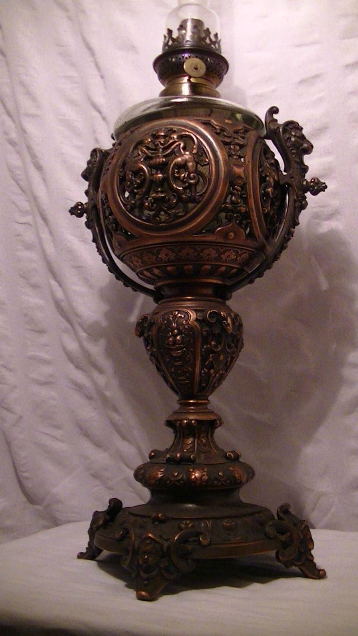 alte grosse Petroleum Lampe Ölleuchte 70 cm 4,8 kg Löwen Ziegen Engel Kopf antik | Antiquitäten & Kunst, Antike, Originale | eBay!