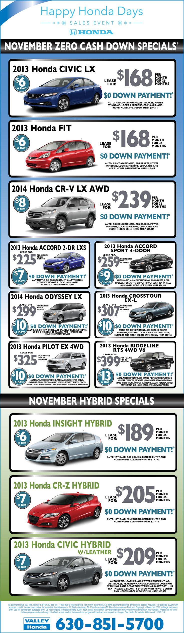 Happy Honda Days Lease Specials