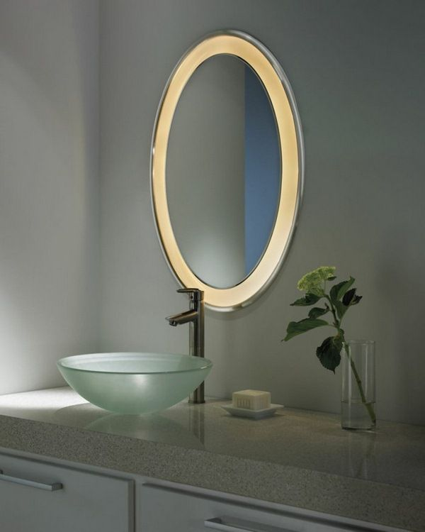 Bathroom Simple Illuminated Led Lighted Mirror For Your Modern Home From Best Performance