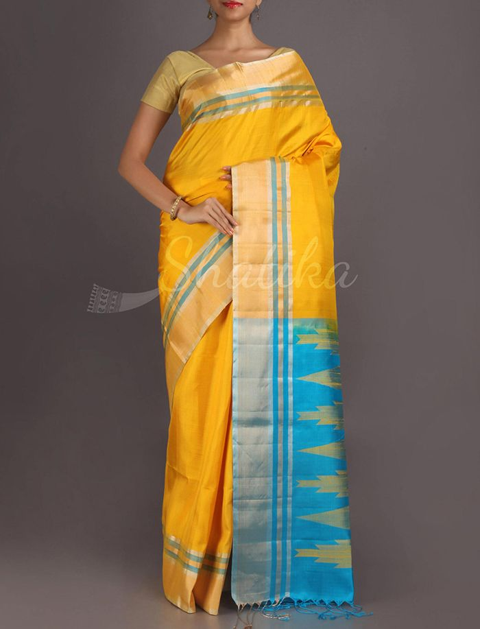 Jyoti Pochampally Inspired Pallu Pure #PattuSilkSaree