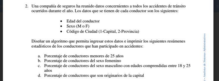 Alumnos Sistemas Galvez: Pract. Proc. de datos I - Ejercicio Companía de Seguros