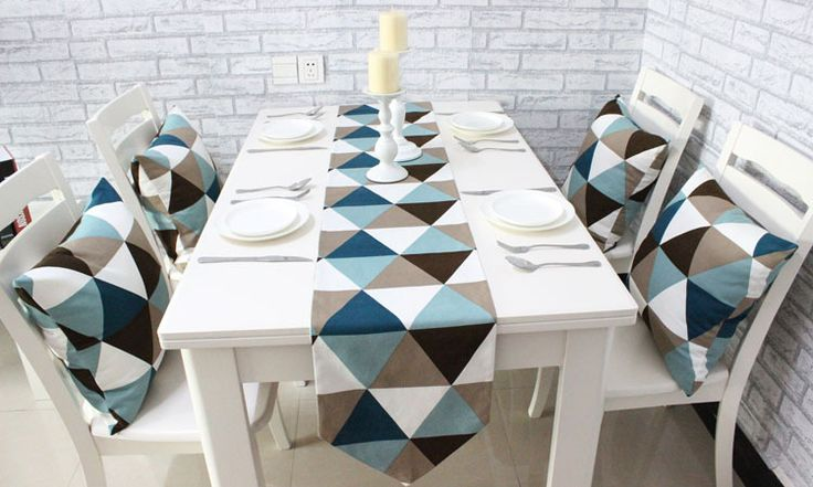 Encontrar Más Camino de Mesa Información acerca de Ikea lienzo Triagnle Gemoetric casa rústica decoración de mesa 4 tamaño para elegir, alta calidad Camino de Mesa de e-fun store en Aliexpress.com