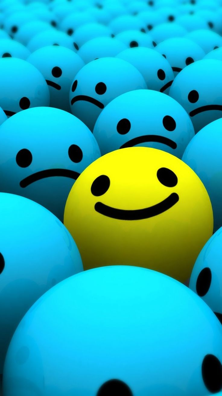 Wallpaper iphone sad - Blue And Yellow Smiley Face Iphone Wallpapers Background And Themes