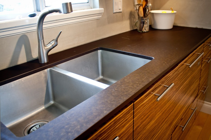Gorgeous profile of the Paperstone recycled paper countertop in