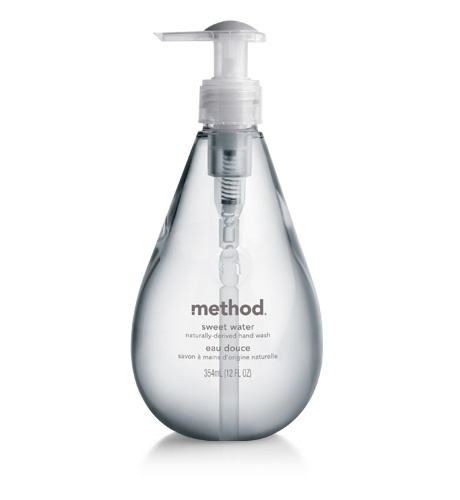 "Method Hand Soap: We use the ""Sweet Water"" It is so heavenly! :)"