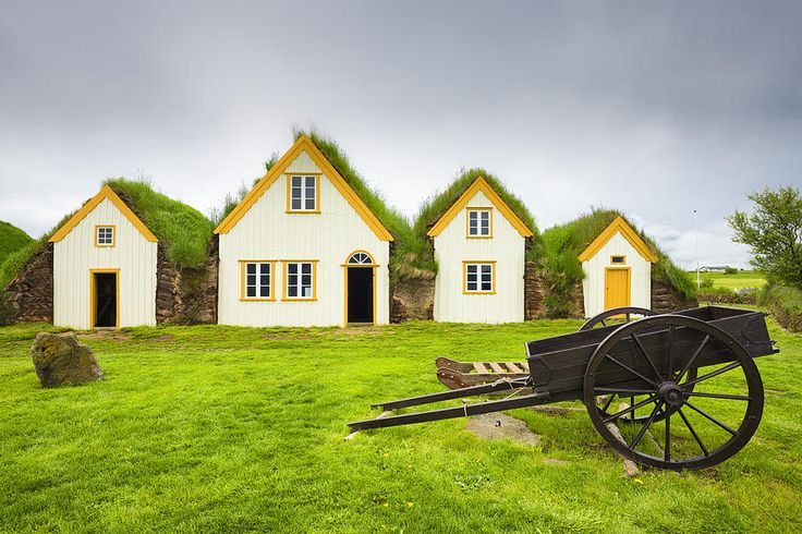 Houses In The Skagafjordur Heritage Museum In Iceland Photograph by Matthias Hauser