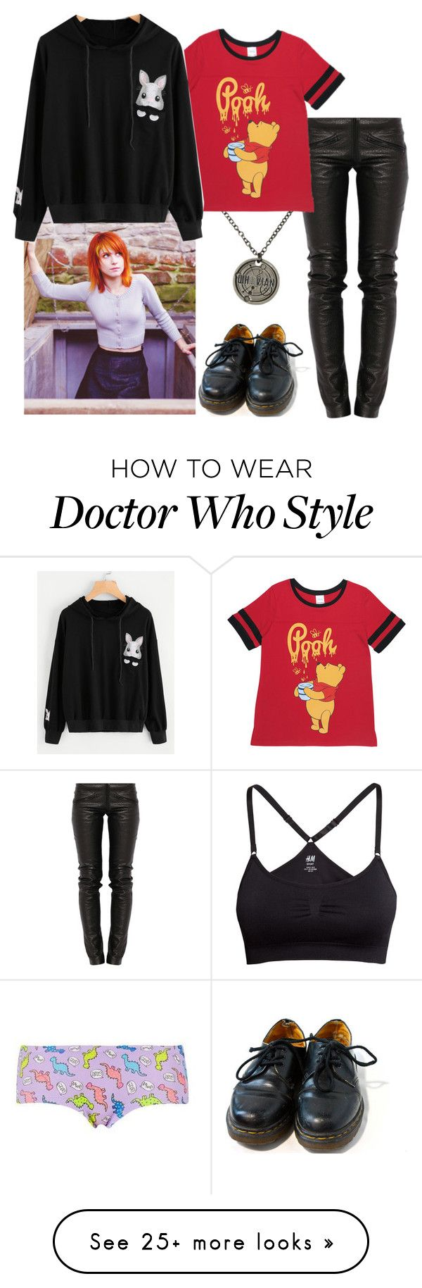 """bandit - visiting zayden"" by paramore-24 on Polyvore featuring H&M, Topshop, Hot Topic, Preen, Disney and Dr. Martens"