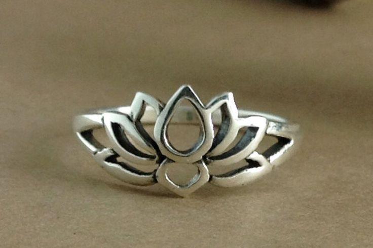 Lotus Ring~Sterling Silver Lotus Ring~Lotus Flower Ring~Lotus Flower Promise Ring by ShootingStarBeads on Etsy https://www.etsy.com/listing/266729832/lotus-ringsterling-silver-lotus
