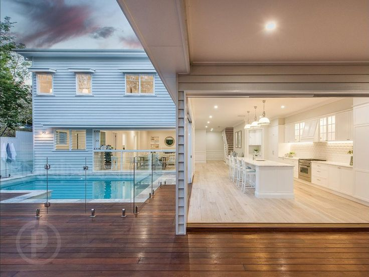 Hamptons-style Brisbane home outdoor entertainment area