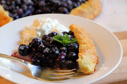 French Blueberry Galette