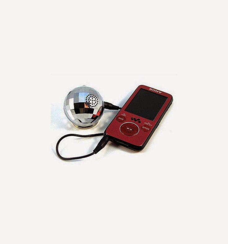 Mini Altavoz Móvil Bola de Discoteca | Badulaque Electrónico