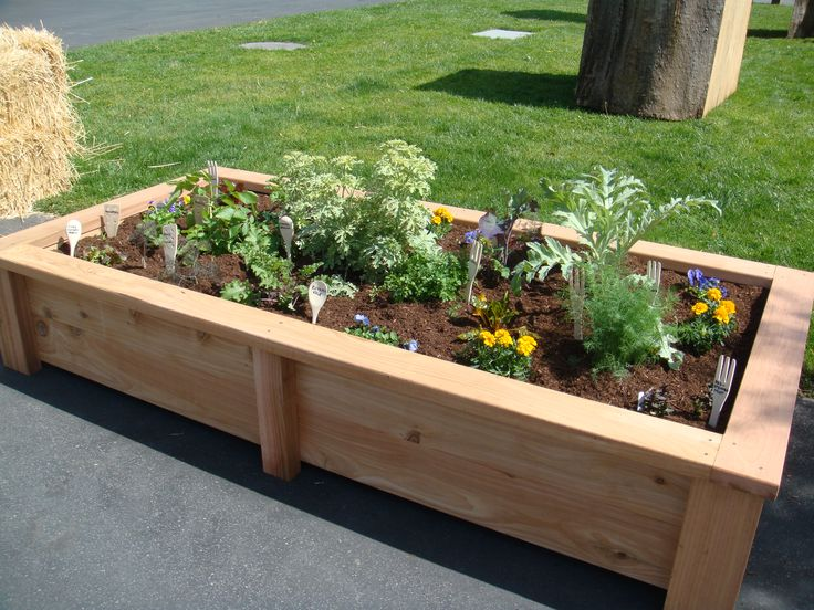 1000 images about garden raised flower beds on pinterest for Raised vegetable garden bed designs