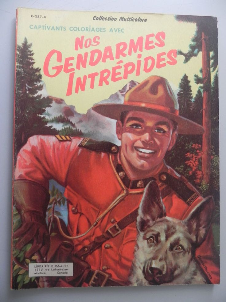 Vintage Nos Gendarmes Intrpides French Coloring Book The 50s Unused Rare