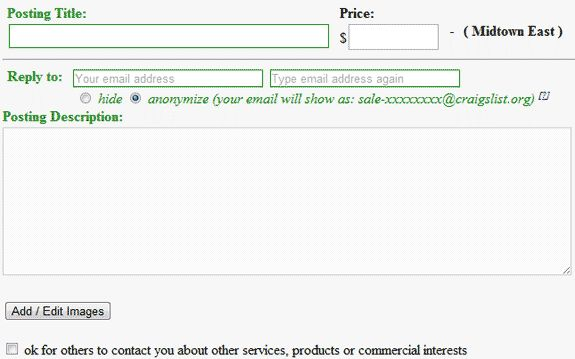 Selling coupons on craigslist