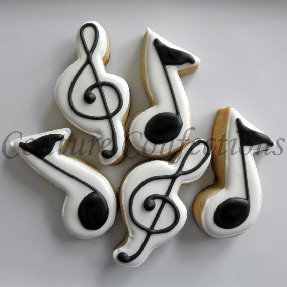 Cake Decorating Music Notes : Best 25+ Music cookies ideas on Pinterest Music cutter ...