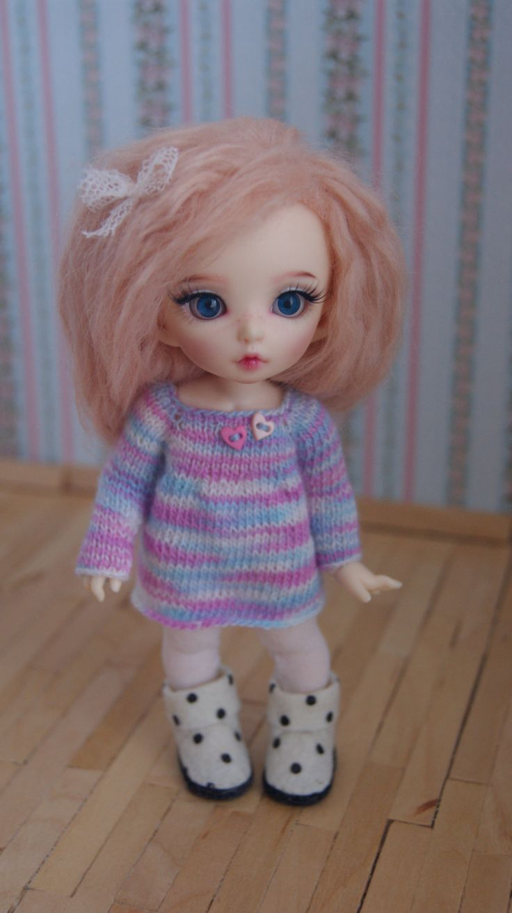 This dress fits Lati Yellow Dolls, Dolls PukiFee Fairyland and Luts Delf Tiny Dolls. by CocoDolls on Etsy